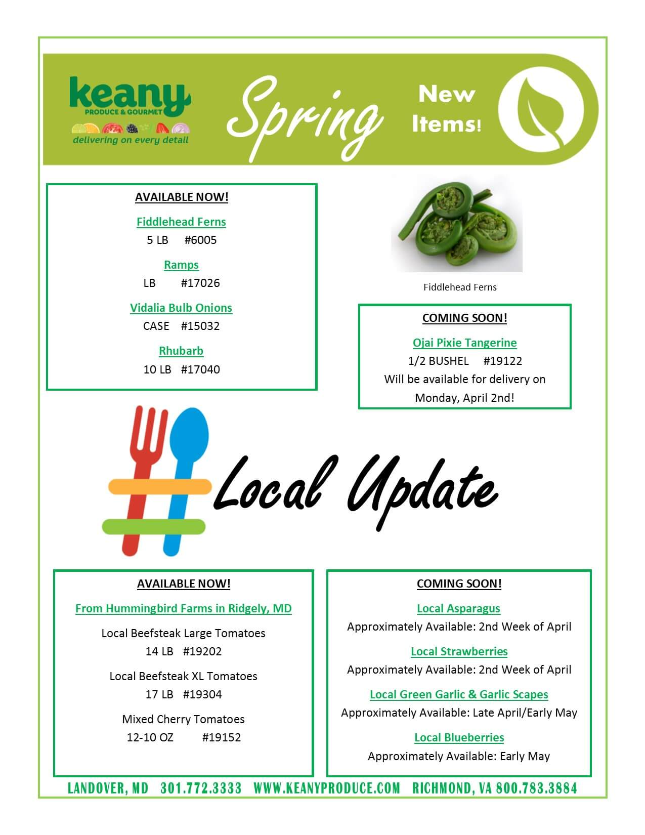 Spring Ahead! Local Coming!