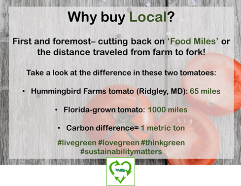 Sustainability Update: Why buy Local?