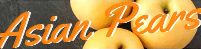 Asian pears